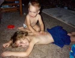 massaging friends