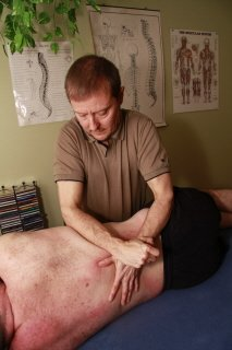 Deep tissue massage sidelye to release low back and truck stablization